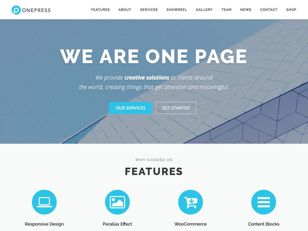 OnePress free wordpress business theme