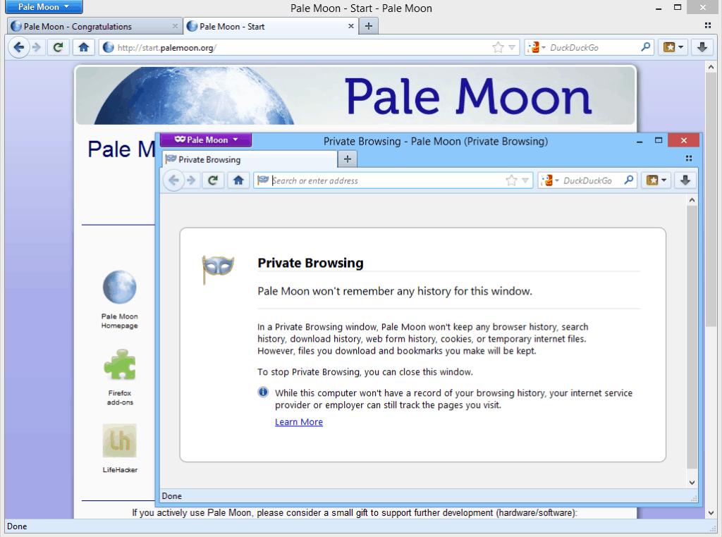 PaleMoon Web Browser